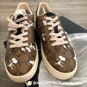 Coach X Peanuts Sneaker With Snoopy Print